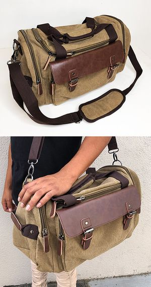 "Brand New $20 Mens Vintage Travel Duffel Bag Hand Gym Sports Shoulder Strap Backpack 18x9x11"" for Sale in Downey, CA"