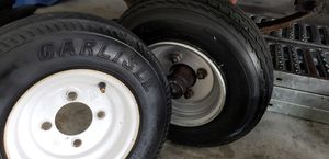 4- Trailer tires 4.80-8 for 90 like new for Sale in Haines City, FL
