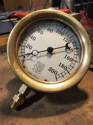 Large brass vintage Ashcroft gauge in very good condition! for Sale in Granite Falls, WA