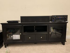 "72"" Wide Solid Black TV Cabinet for Sale in Fairview, TX"