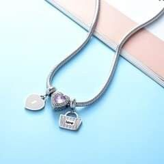 Love Stainless steel Neckchain N 3 Charms. Cadena Con 3 Dije Love En Acero INOXIDABLE for Sale in Nashville,  TN