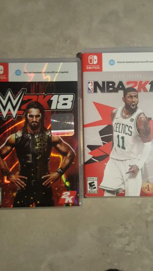 NBA 2k18 and Wwe 2k18 Nintendo Switch both $40 for Sale in Baltimore, MD