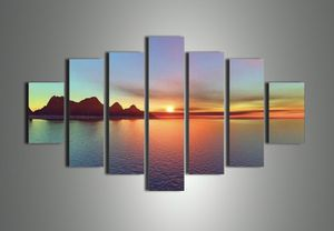7 piece sunset canvas for Sale in Peoria, IL