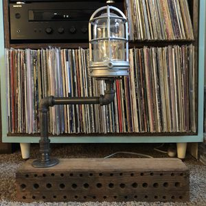 Handmade Industrial Lamp for Sale in Portland, OR