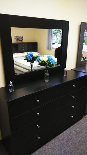 Amazing black vanity dresser and mirror for Sale in Santa Monica, CA