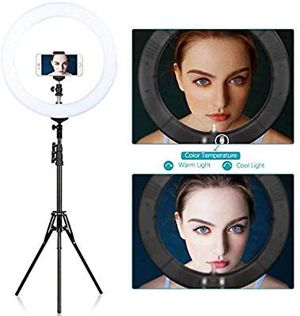 """"""" Ring Light with Stand Dimmable LED Ring Light Bi-Color Selfie Halo Ring light for Sale in San Antonio, TX"""