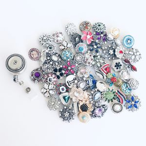 1 Rhinestone snap on ID badge reel with 5 pieces randomly picked snap buttons for Sale in Gilbert, AZ