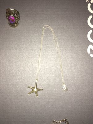 Tiffany and Company starfish silver necklace for Sale in Santa Ana, CA