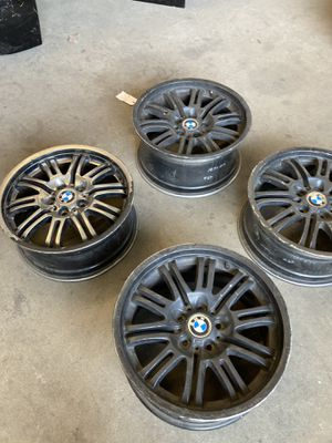 "SET OF 4 BLACK 19"" inch BMW M3 E46 ""STYLE 67"" M OEM FORGED WHEELS RIMS 335I 59369 for Sale in Pomona, CA"