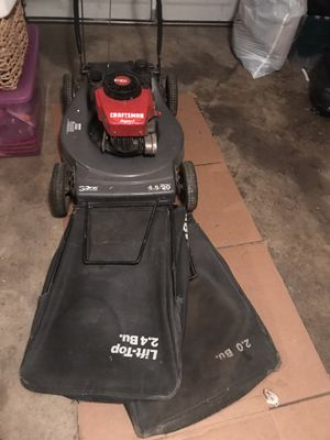 Craftsman Eager-1 Lawn Mower + 2 bags for Sale in Los Angeles, CA