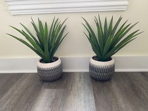 Two faux potted plants for Sale in Mickleton, NJ