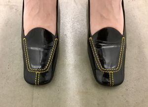 Prada Vintage 90's Venice Stitching heels - designer shoes from Italy, size 9, black, with box for Sale in Los Angeles, CA