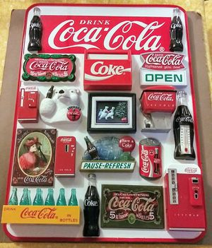 Coca-Cola Magnets & Dry Erase Board for Sale in Indianapolis, IN