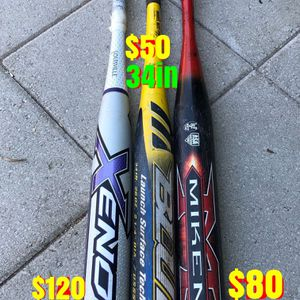Softball bats equipment gloves gear Easton mizuno Louisville slugger Rawlings for Sale in Los Angeles, CA