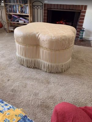 """Ottoman with fringe trim 35""""x 18"""" for Sale in Bakersfield, CA"""