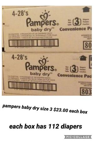 Pampers baby dry size 3 for Sale in Los Angeles, CA