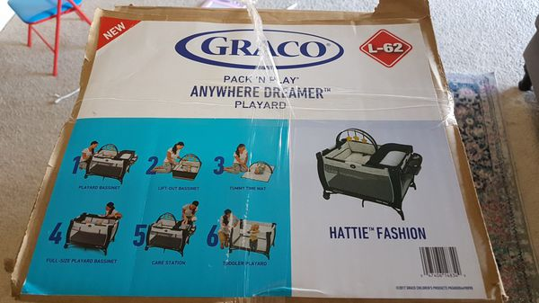 Brand new unopen box of Graco 6 in 1 pack and play anywhere dreamer playyard