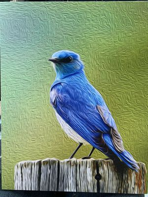 Blue bird painting. Canvas for Sale in PA, US