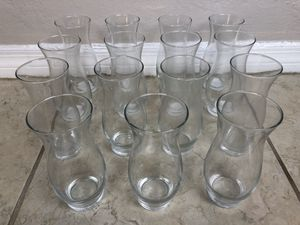 15 Small Glass Carafes for Water, Wine, Mixers / Flower Vases for Sale in North Bay Village, FL