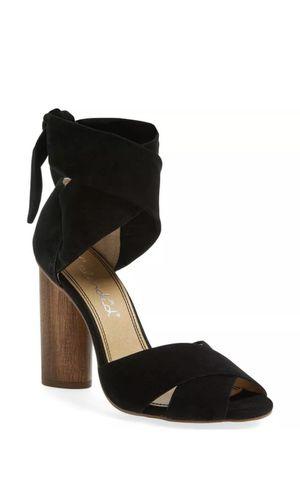 SPLENDID Womens 'Johnson' Black Leather Block Heel Sandals Sz 6.5 231370 for Sale in Lutz, FL