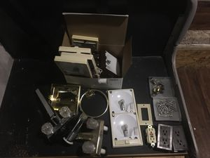 Box of assorted rv-motorhome-trailer parts! for Sale in Saratoga Springs, UT