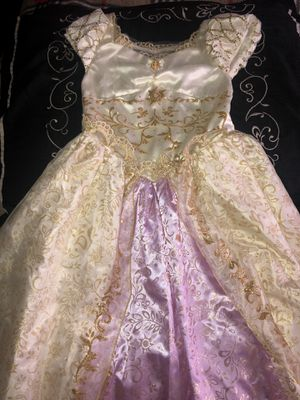 Rapunzel disney kids dress with crown for Sale in Hickory Hills, IL