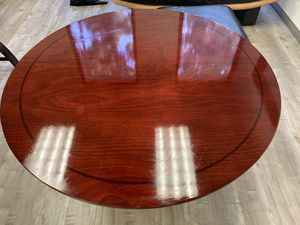 Rounds mahogany conference or kitchen table for Sale in Newport Beach, CA