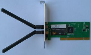 AZiO AWD102N Wireless Adapter IEEE 802.11b/g, IEEE 802.11n Draft 2.0 PCI for Sale in Rockville, MD