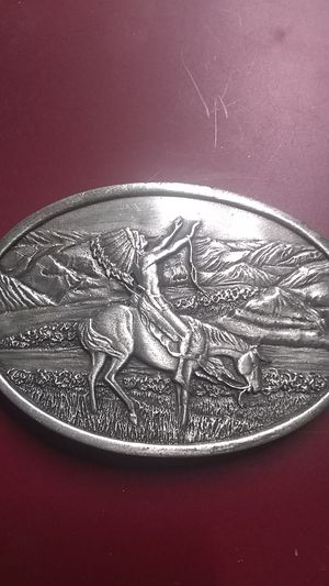 Collectable 1977 Chief on horse buckle for Sale in Harrisburg, IL