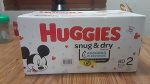 Huggies snug & dry size 2 for Sale in Phoenix, AZ