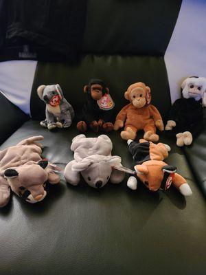 7 Beanie Babies. Monkeys Bears Cats for Sale in Phoenix, AZ