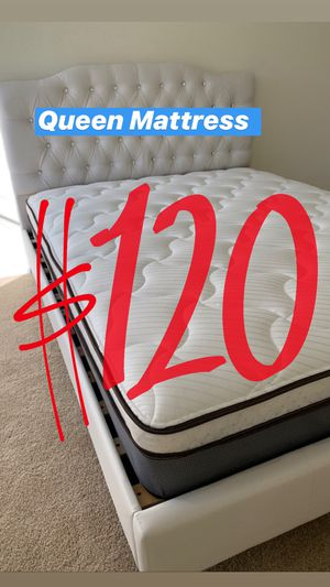 Q LOCATED IN LOS ANGELES $20 Delivery Fee ‼️ BRAND NEW PILLOW TOP MATTRESSES💯 COLCHONES NUEVOS PILLOW TOP 💯 Queen $120 ❌ $180 With Box Spring 💥💥 for Sale in Riverside, CA