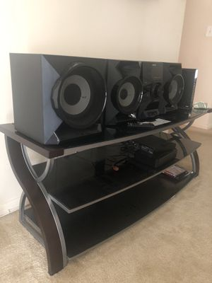 Sony Hi-Fi stereo system with TV stand and blue-ray DVD Player for Sale in Baltimore, MD