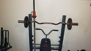 Incline/Decline etc. Bench - bars - 500 pounds in real iron . for Sale in Fresno, CA
