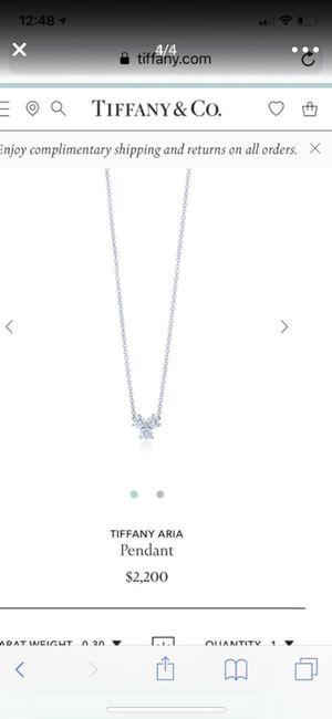 Tiffany and Co diamond pendant necklace for Sale in Miami, FL