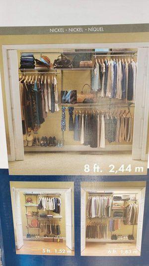 ShelfTrack 5 ft. to 8 ft. 12 in. D x 96 in. W x 78 in. H..Price:$90 for Sale in Houston, TX