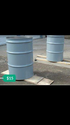 Industrial grade steel 55 gallon barrels(excellent condition) for Sale in Arlington, TX