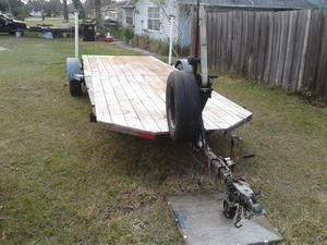 Hauling trailer 20 foot long also has winch new tires new Springs new floors for Sale in NEW PRT RCHY, FL