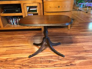 Duncan Fife Side Table w/glass serving tray for Sale in Rocky Mount, VA