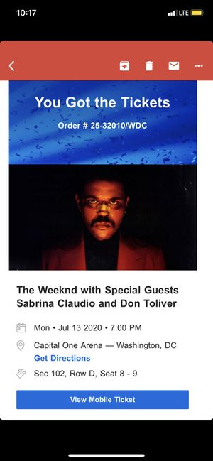 The Weeknd After Hours Concert for Sale in Leesburg, VA