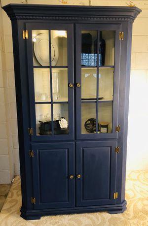 Blue corner China cabinet for Sale in Cincinnati, OH