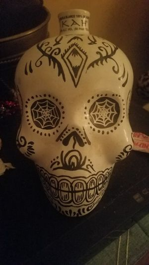 Ceramic skull/ tequila bottle. Way cool! for Sale in Springfield, VA