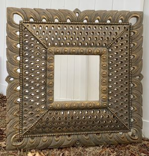 Bombay Outlet Ornate Wall Hanging Carved Old Gold Frame Mirror for Sale in Chapel Hill, NC