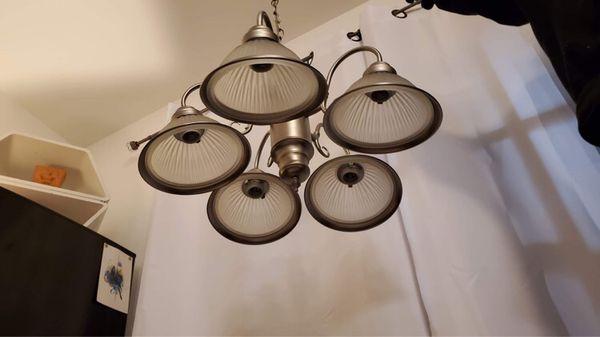 Silver Dining Room Chandelier / Light Fixture