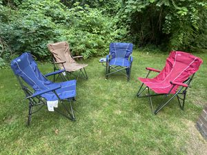 4 beach chairs and beach umbrella. description in the photos for Sale in Worcester, MA