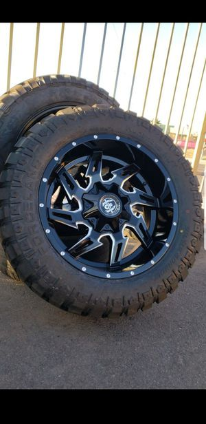 20x10 black hardcore offroad rims 6 lug 6x139 6x135 whit New MUD tires 33 1250 20 lt for Sale in Phoenix, AZ