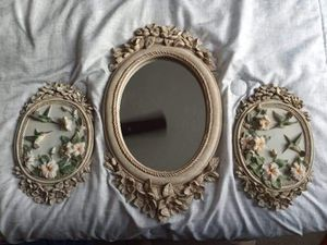 Beautiful hummingbird floral design portraits and mirror for Sale in Mesquite, TX