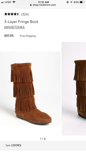 Size 8 Minnetonka fringe boots NEVER WORN for Sale in Philadelphia, PA