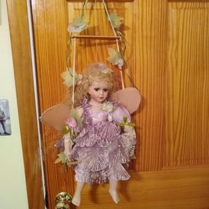 Beautiful Porcelain Angel Doll on Swing for Sale in Cleveland, OH