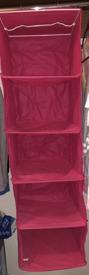 pink closet organizer for Sale in Bakersfield, CA